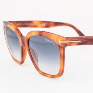 Tom Ford Amarra Blue Gradient Sunglasses